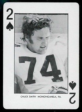 Chuck Smith 1974 West Virginia Playing Cards football card