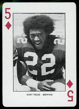 Rory Fields 1974 West Virginia Playing Cards football card