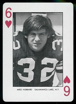 Mike Hubbard 1974 West Virginia Playing Cards football card