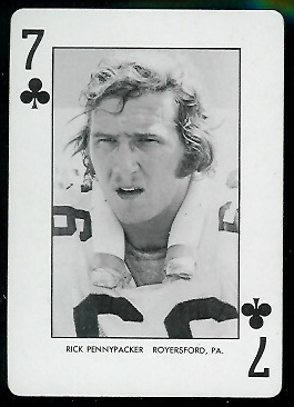 Rick Pennypacker 1974 West Virginia Playing Cards football card
