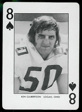 Ken Culbertson 1974 West Virginia Playing Cards football card