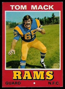 Tom Mack 1974 Wonder Bread football card