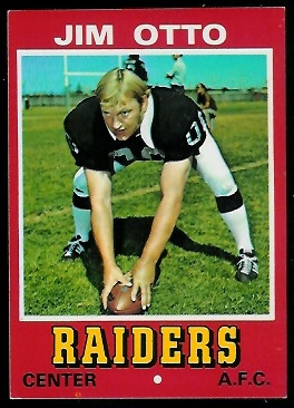 Jim Otto 1974 Wonder Bread football card