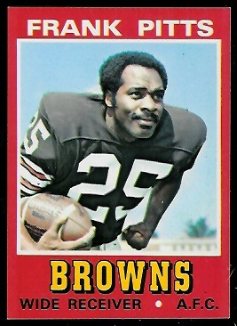 Frank Pitts 1974 Wonder Bread football card