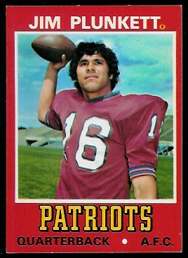 Jim Plunkett 1974 Wonder Bread football card