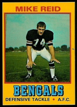 Mike Reid 1974 Wonder Bread football card