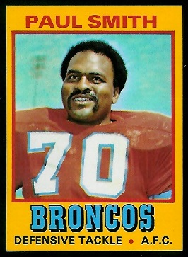 Paul Smith 1974 Wonder Bread football card