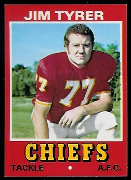 Jim Tyrer 1974 Wonder Bread football card