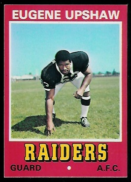 Gene Upshaw 1974 Wonder Bread football card