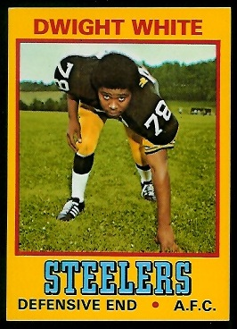 Dwight White 1974 Wonder Bread football card