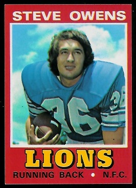 Steve Owens 1974 Wonder Bread football card
