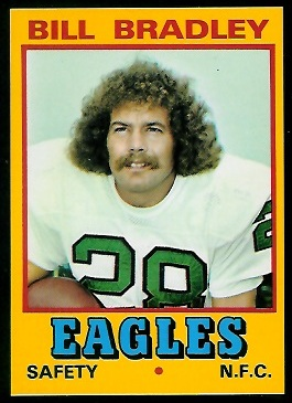 Bill Bradley 1974 Wonder Bread football card