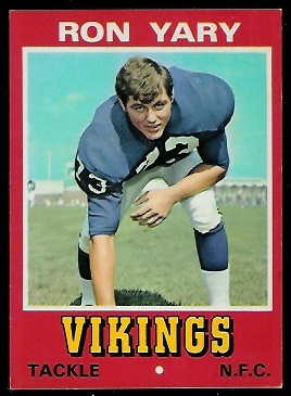Ron Yary 1974 Wonder Bread football card
