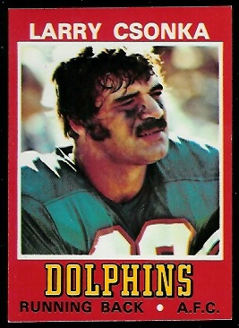 Larry Csonka 1974 Wonder Bread football card