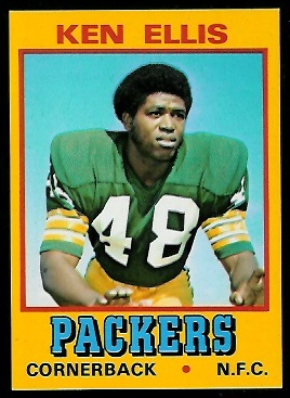 Ken Ellis 1974 Wonder Bread football card