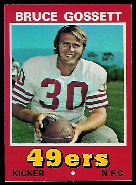 Bruce Gossett 1974 Wonder Bread football card