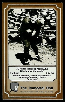 John McNally 1975 Fleer Immortal Roll football card