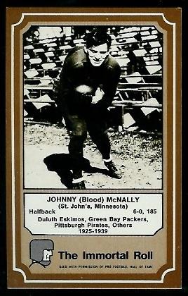 John McNally 1975 Fleer Immortal Roll football card