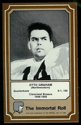 Otto Graham 1975 Fleer Immortal Roll football card
