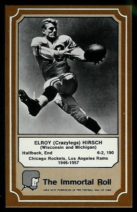 Elroy Hirsch 1975 Fleer Immortal Roll football card