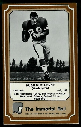 Hugh McElhenny 1975 Fleer Immortal Roll football card