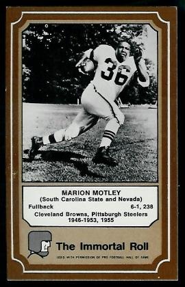 Marion Motley 1975 Fleer Immortal Roll football card