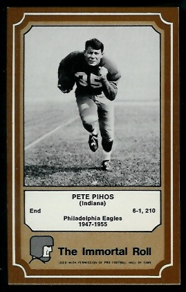 Pete Pihos 1975 Fleer Immortal Roll football card