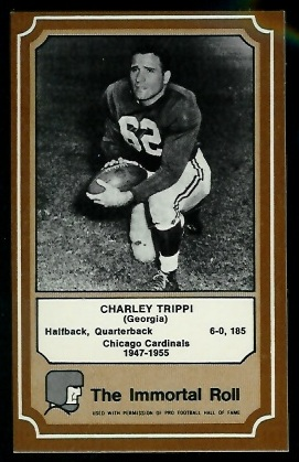 Charley Trippi 1975 Fleer Immortal Roll football card