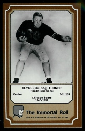 Bulldog Turner 1975 Fleer Immortal Roll football card