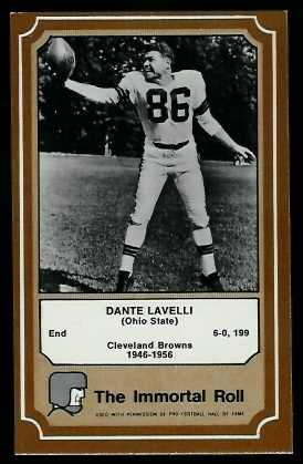 Dante Lavelli 1975 Fleer Immortal Roll football card