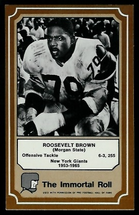 Roosevelt Brown 1975 Fleer Immortal Roll football card