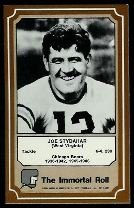 Joe Stydahar 1975 Fleer Immortal Roll football card