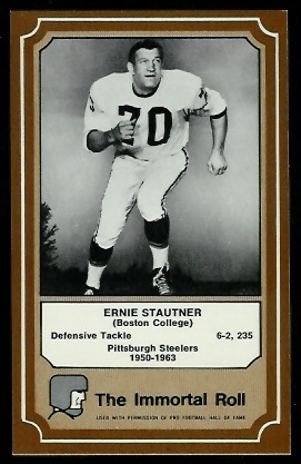 Ernie Stautner 1975 Fleer Immortal Roll football card