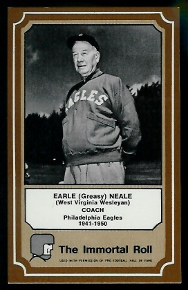 Greasy Neale 1975 Fleer Immortal Roll football card