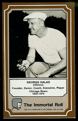 George Halas 1975 Fleer Immortal Roll football card