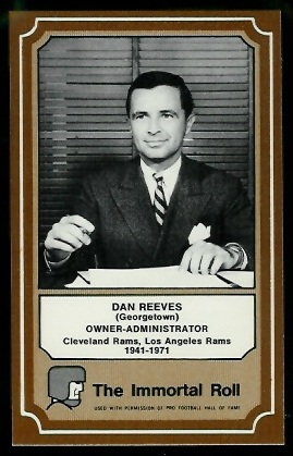 Dan Reeves 1975 Fleer Immortal Roll football card