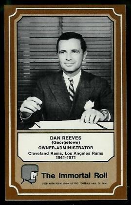 Dan Reeves 1975 Fleer Immortal Roll football card