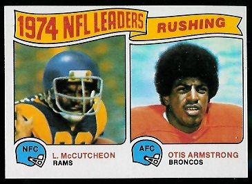 1974 Rushing Leaders 1975 Topps football card