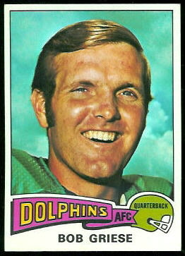 Bob Griese 1975 Topps football card
