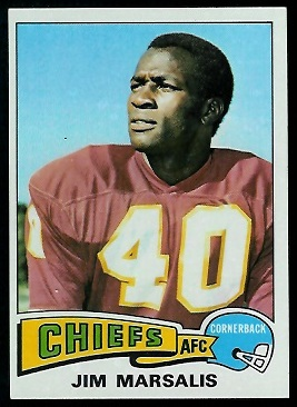 Jim Marsalis 1975 Topps football card