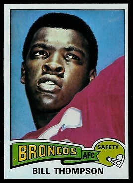 Bill Thompson 1975 Topps football card