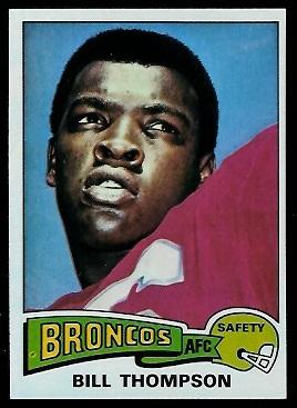 Bill Thompson 1975 Topps football card