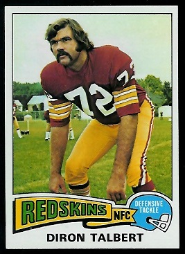 Diron Talbert 1975 Topps football card