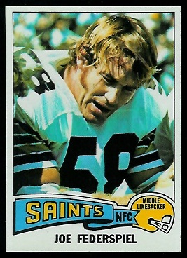 Joe Federspiel 1975 Topps football card