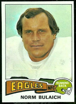 Norm Bulaich 1975 Topps football card