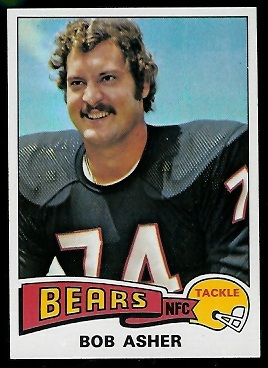 Bob Asher 1975 Topps football card