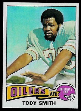Tody Smith 1975 Topps football card