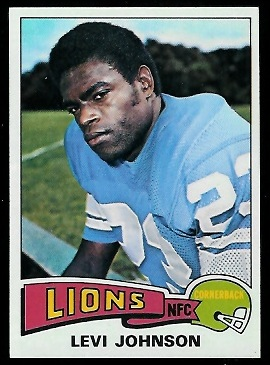 Levi Johnson 1975 Topps football card