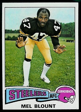 Mel Blount 1975 Topps football card