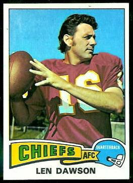 Len Dawson 1975 Topps football card